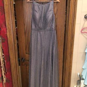 Slate grey bridesmaid dress